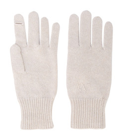 white neutral knitted e-gloves