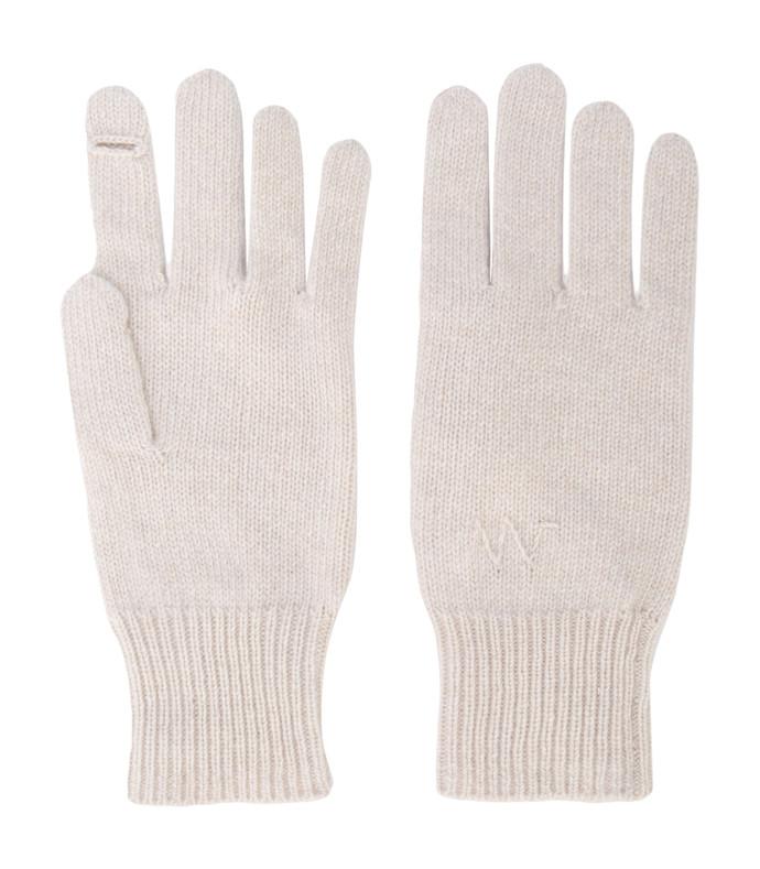 white neutral knitted e-gloves