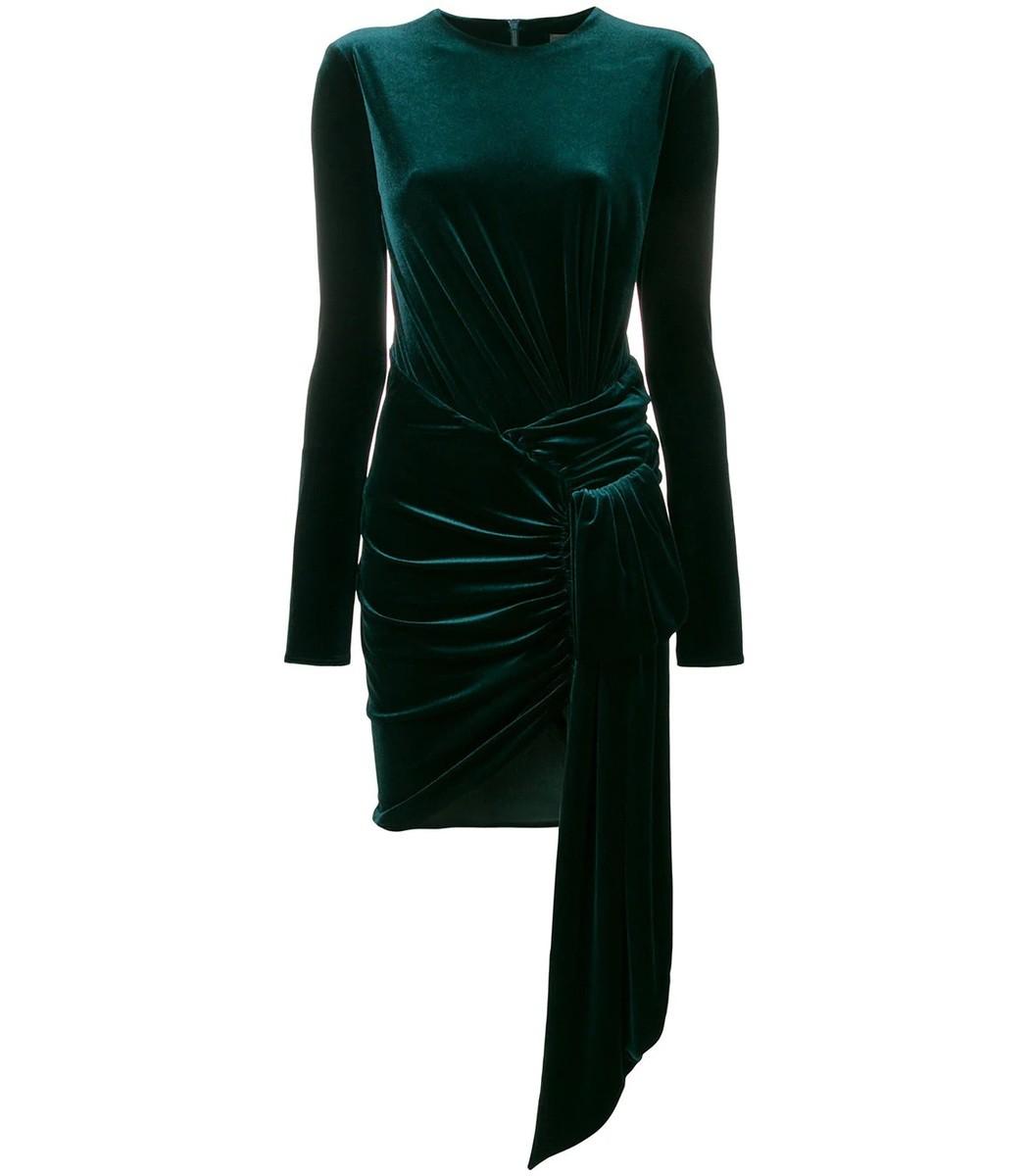 ALEXANDRE VAUTHIER Green Draped Mini Dress