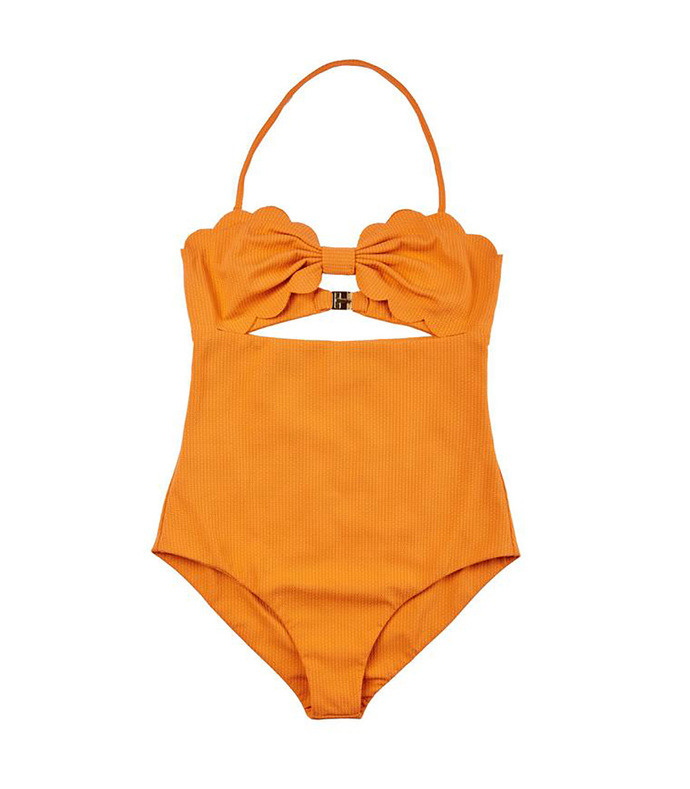 antibes maillot in terracotta