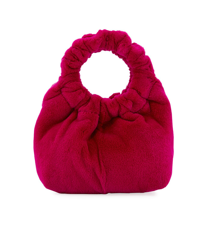 red small double circle bag