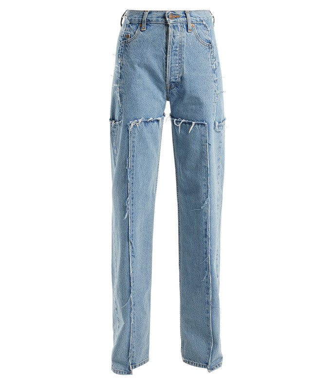 Blue X Levi's Frayed Denim Jeans 2242024482570874296
