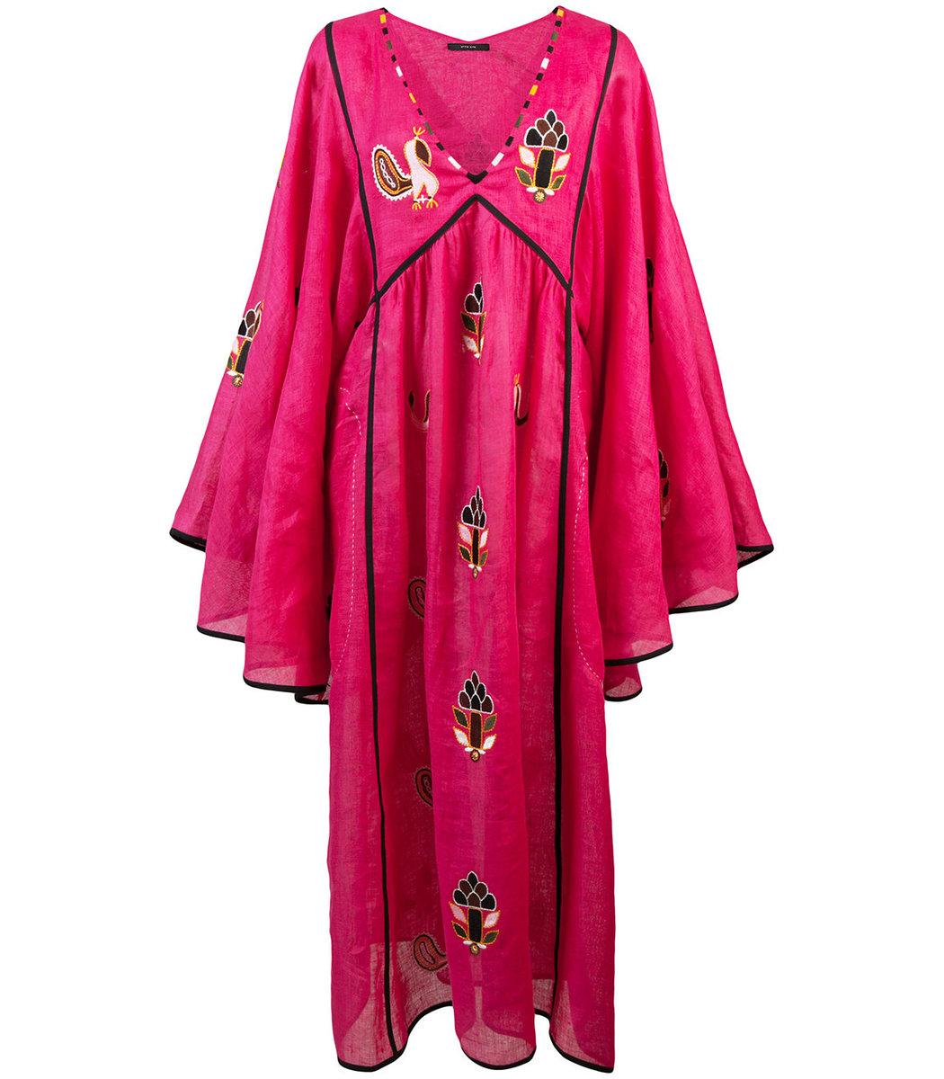 VITA KIN Pink Pineapple Midi Dress