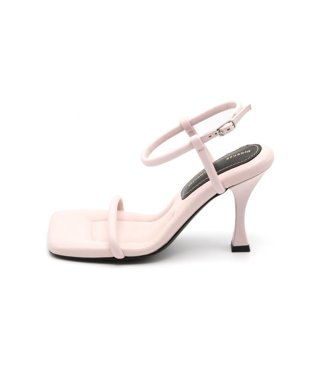 Proenza Schouler Square Padded Sandal in Light Pink