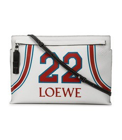 white 22 clutch bag