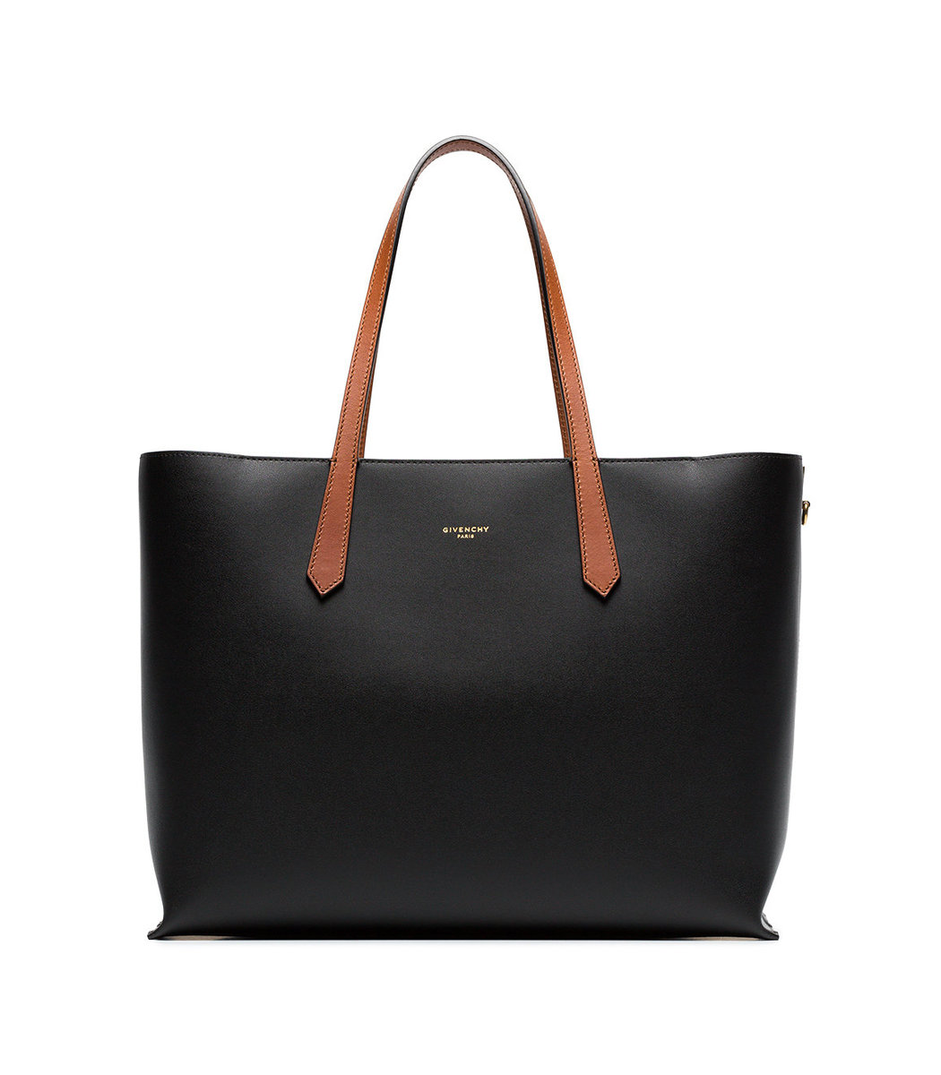 GIVENCHY Black Leather Shopper Bag