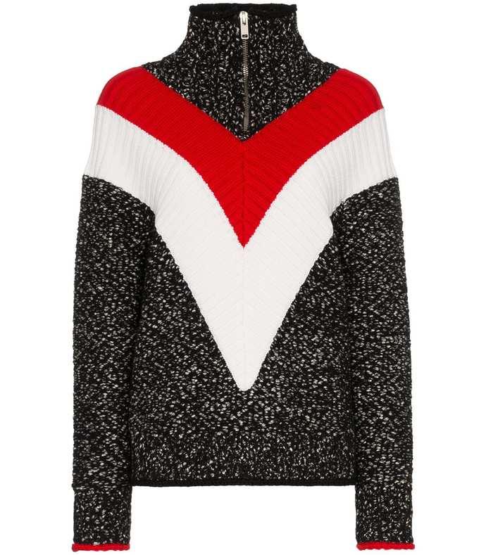 multicolor zip up sweater