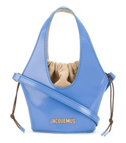 sky blue drawstring mini bag