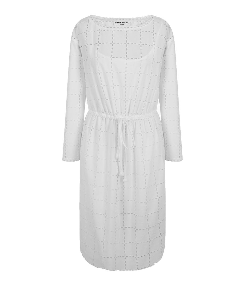 Sonia Rykiel White Broderie Anglaise Dress