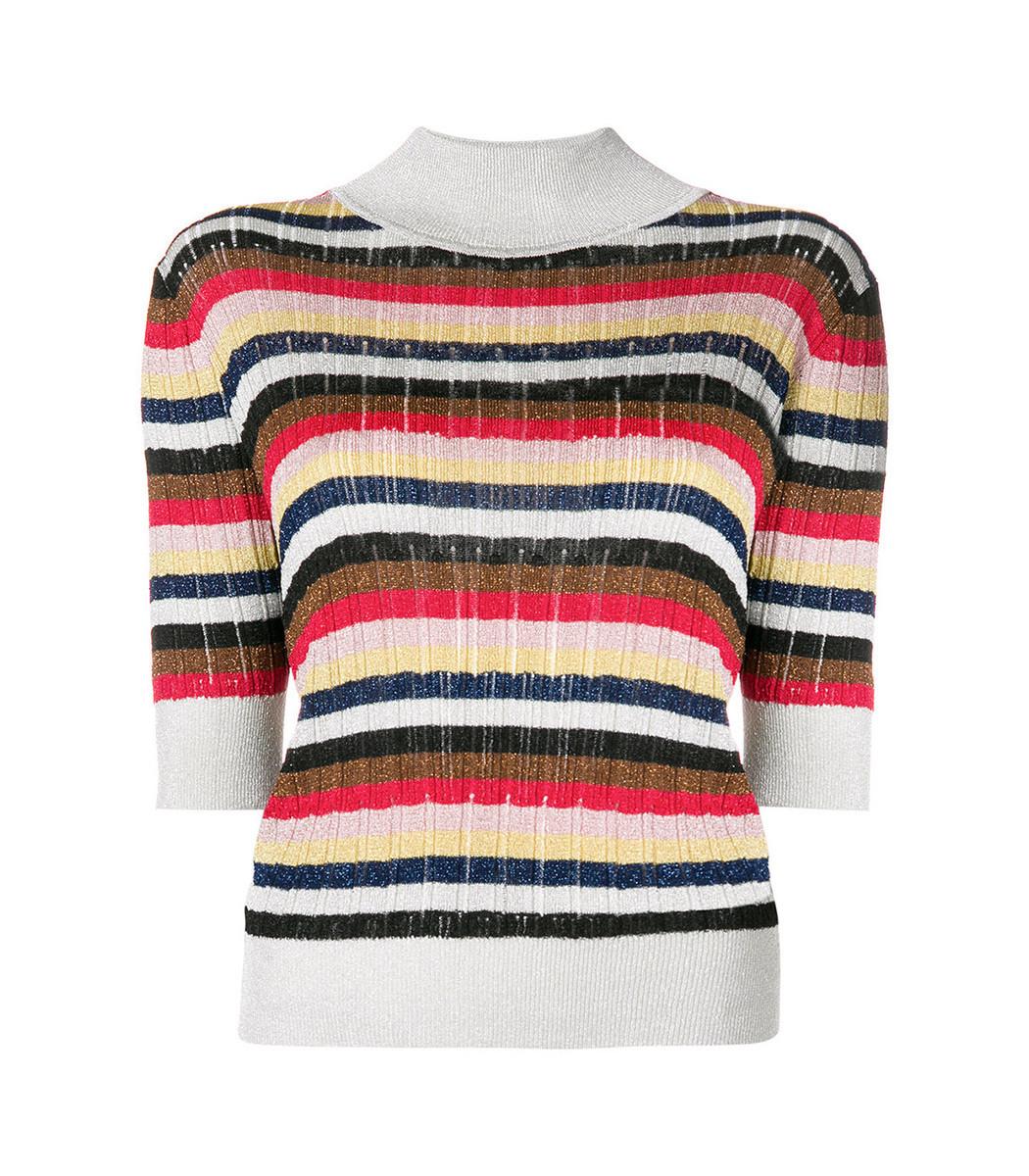 SONIA RYKIEL Multicolor Striped Knit Top