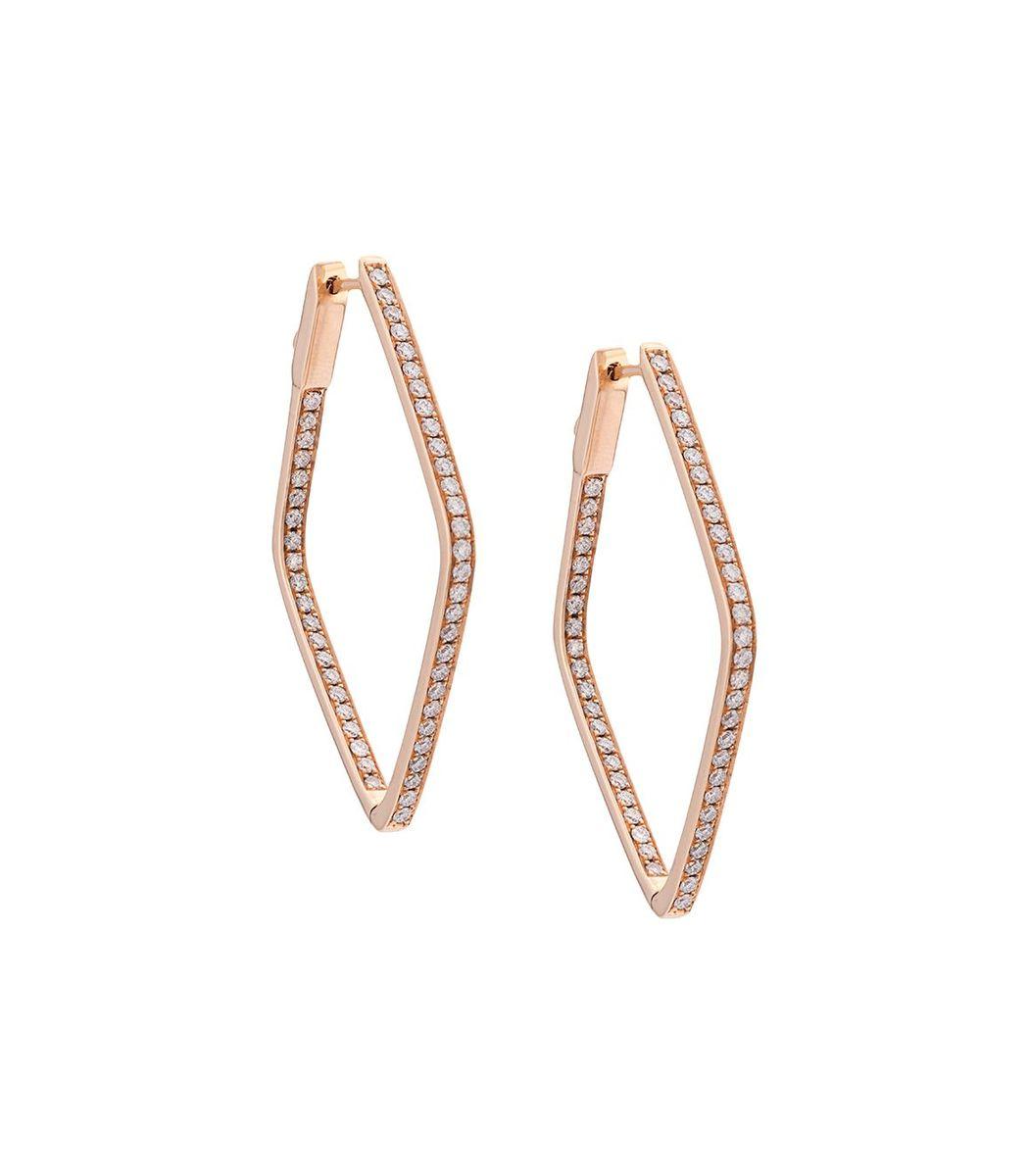 Anita Ko Gold Diamond Shaped Hoops