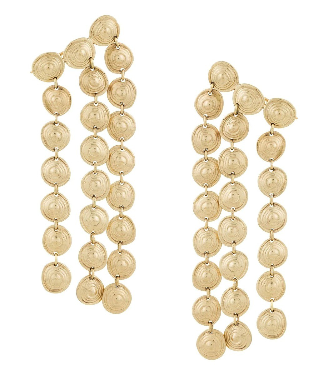 Ellery Gold Cascade Chandelier Earrings
