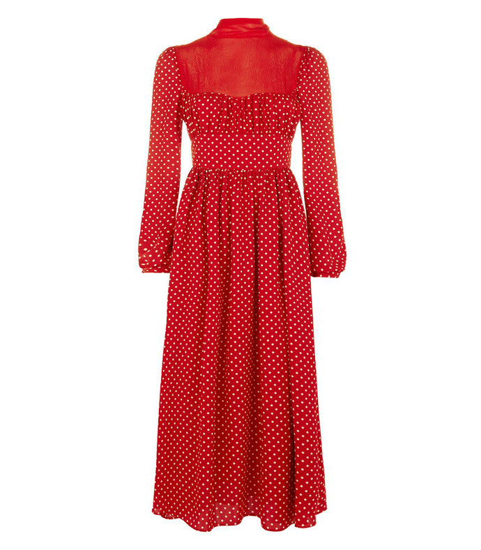 Polka Dot Midi Dress 2371370016314488045