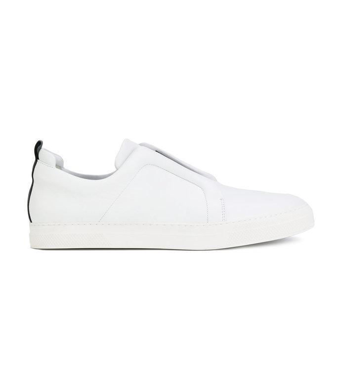 white slider sneakers