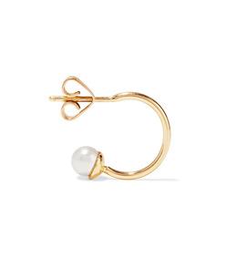 mirian 18-karat gold pearl hoop earring