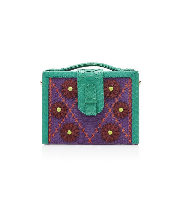 limited edition python box bag