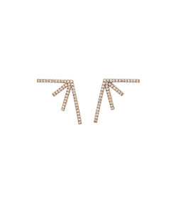gold sputnik 3 rose stud