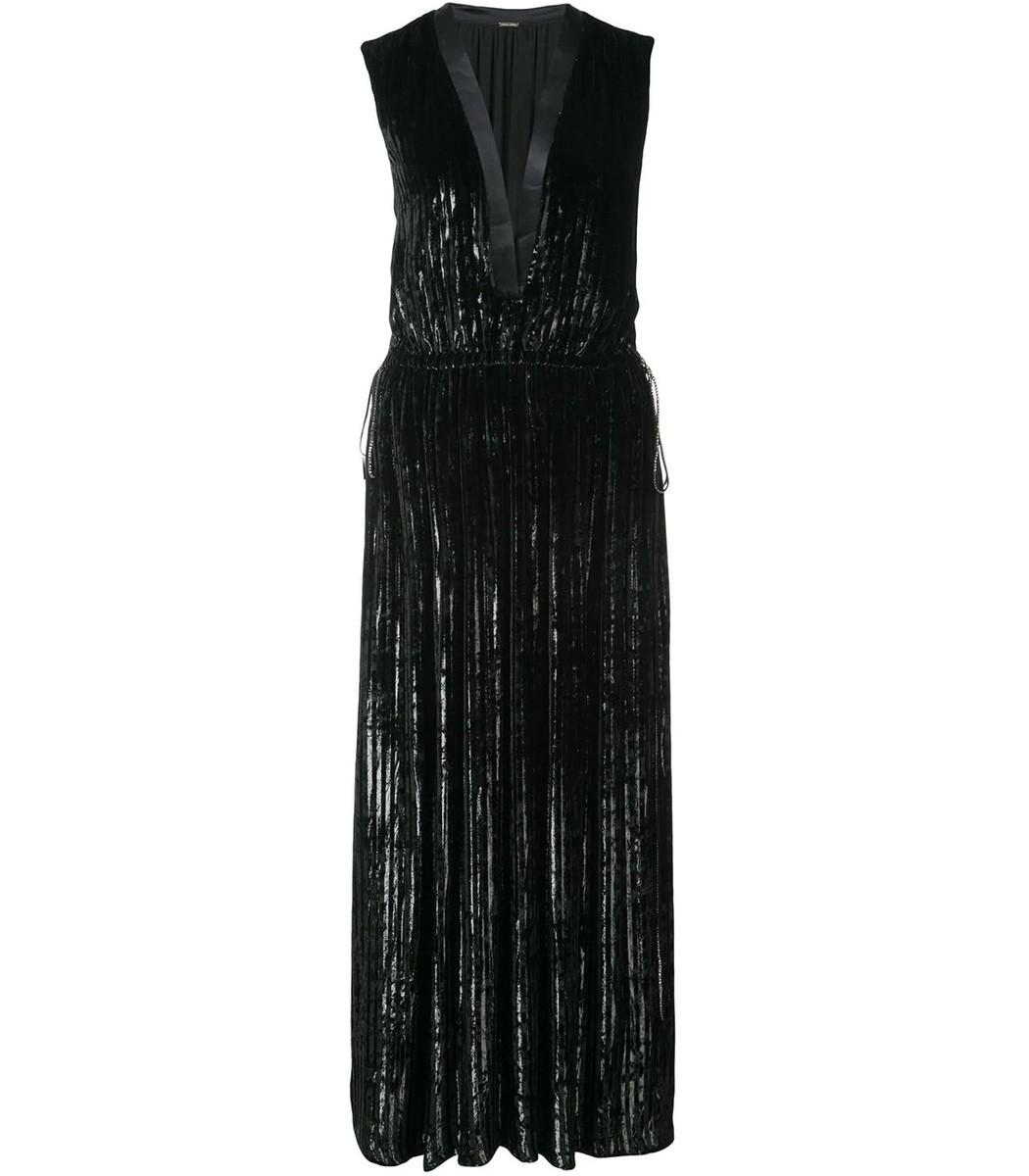 ADAM LIPPES Black Pleated Dress