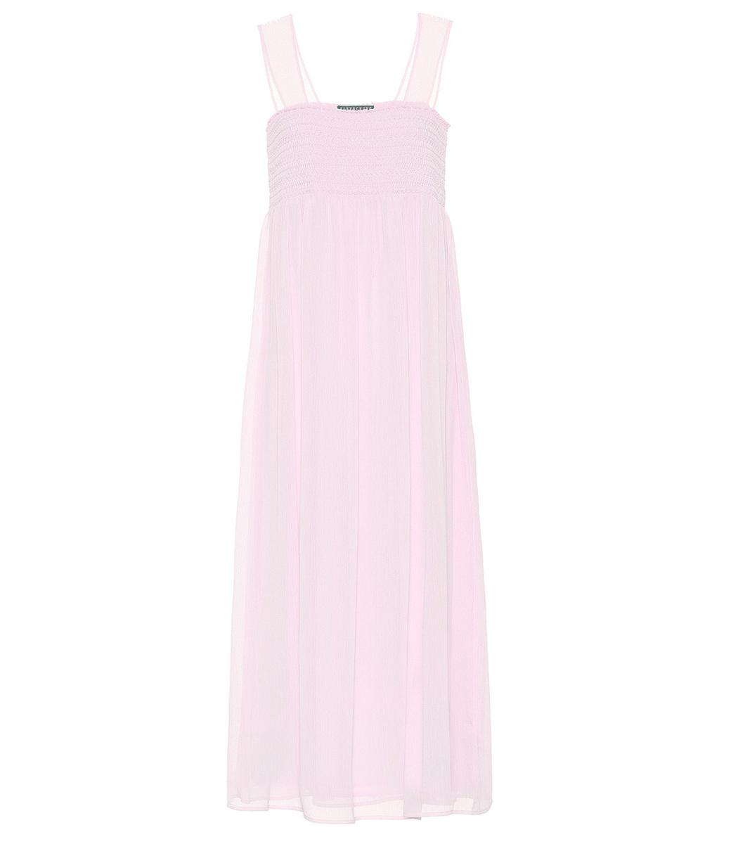Alexa Chung Pink Smock Dress