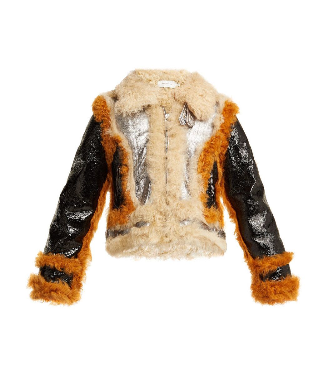 Marques' Almeida Multicolor Fitted Shearling Jacket