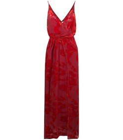 red rose velvet gown