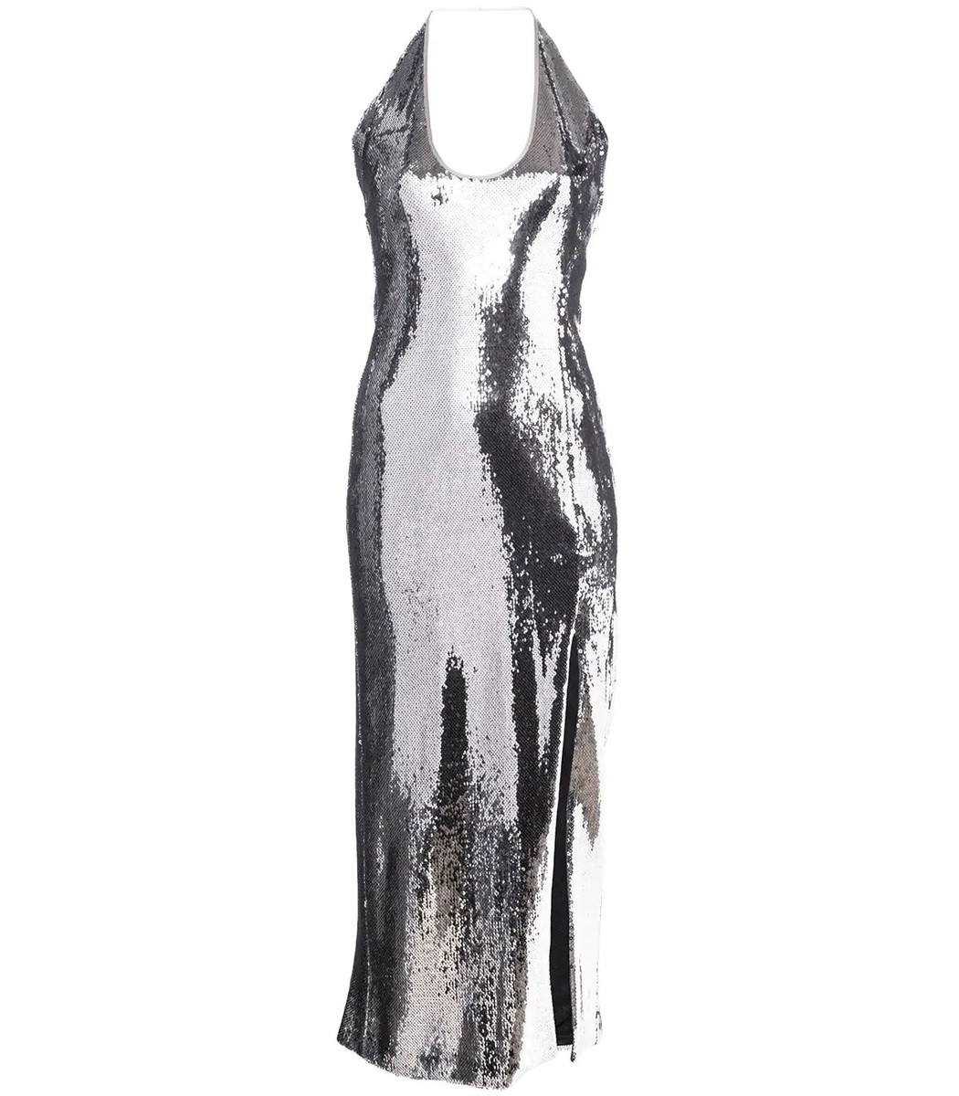 Galvan Silver Chrome Dress