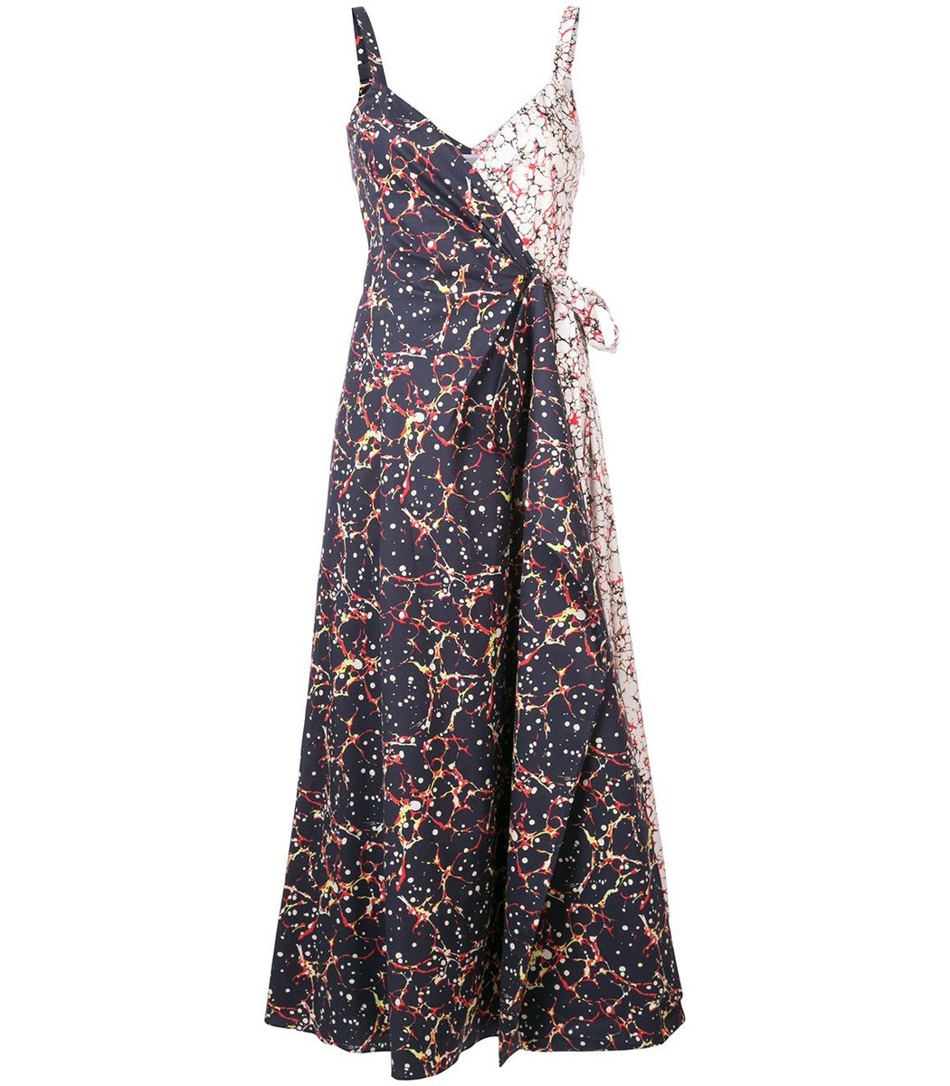 Rosie Assoulin Cottons Khaki That's a Wrap! Dress