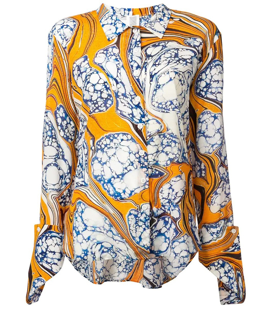 Rosie Assoulin Multicolor Printed Shirt