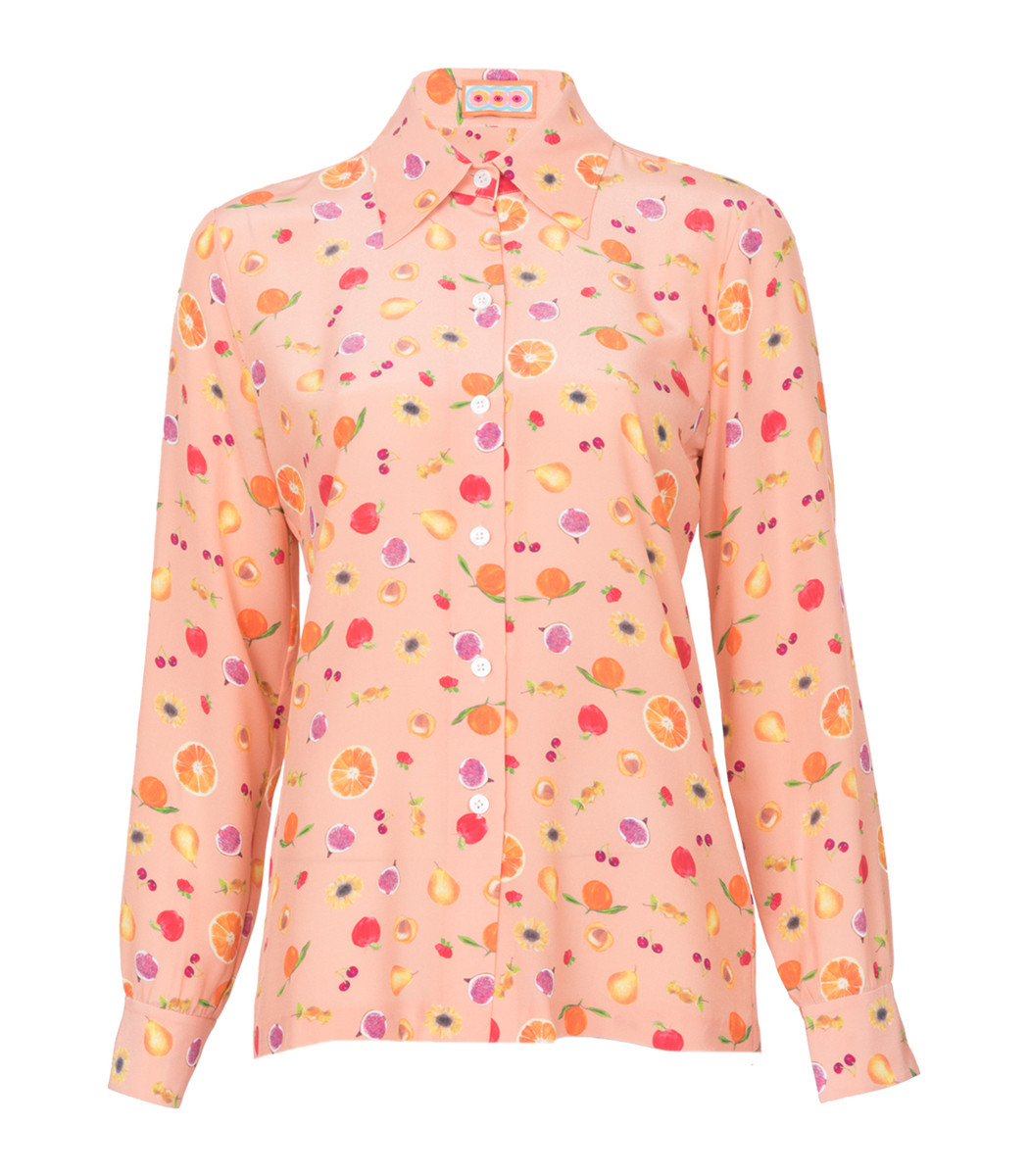 LHD Peach Star Island Blouse