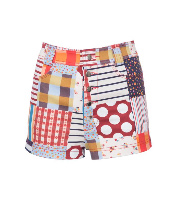 multicolor pearl beach shorts