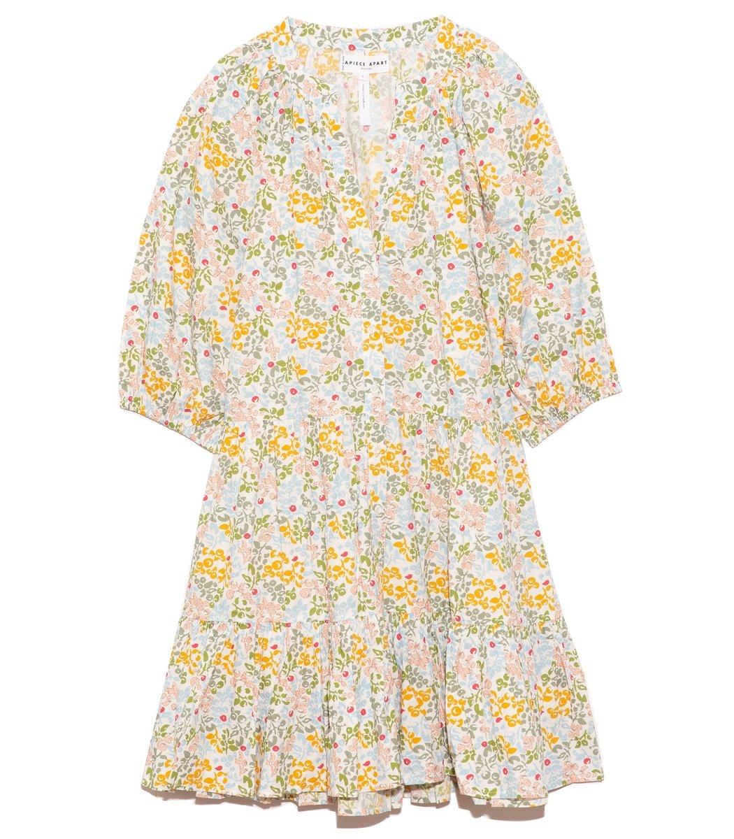 Apiece Apart Mini Mitte Dress in Light Daisy
