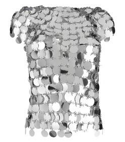 silver paillette shirt