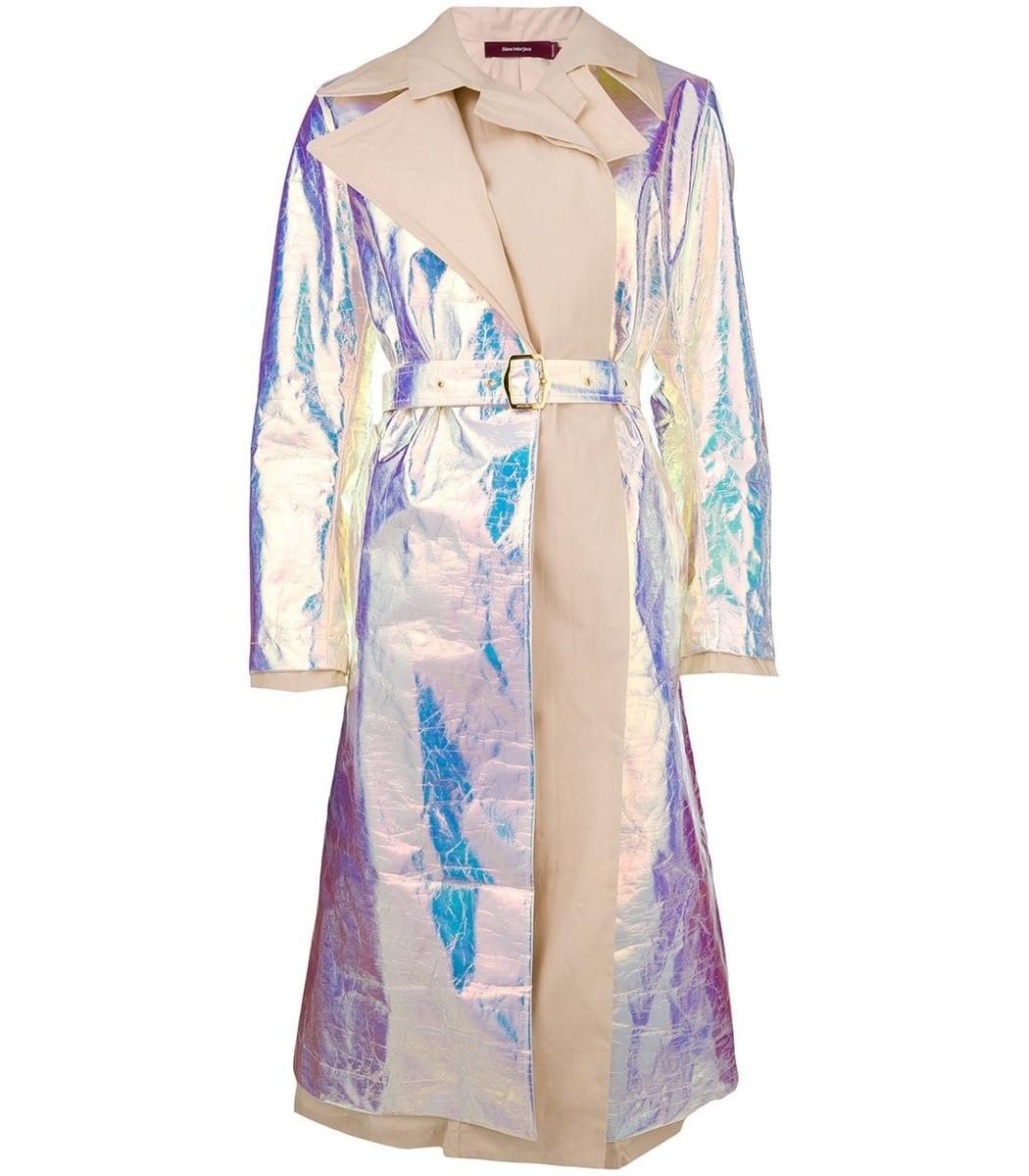 Sies Marjan Devin Iridescent Trench Coat