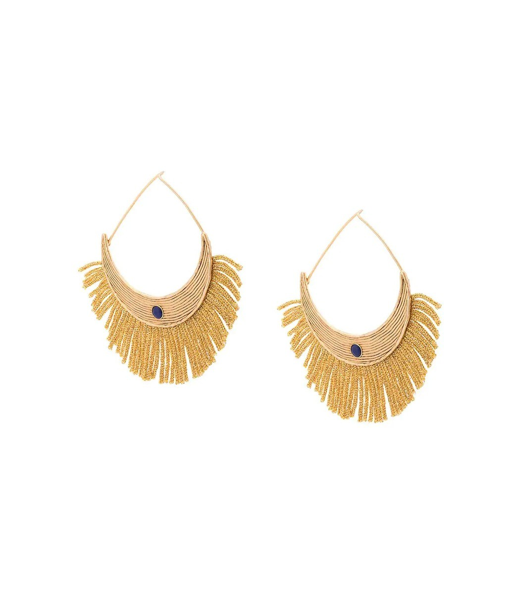 Aurelie Bidermann Gold Fringe Earrings