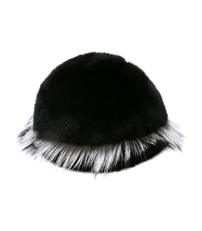 black freja fox fur cap