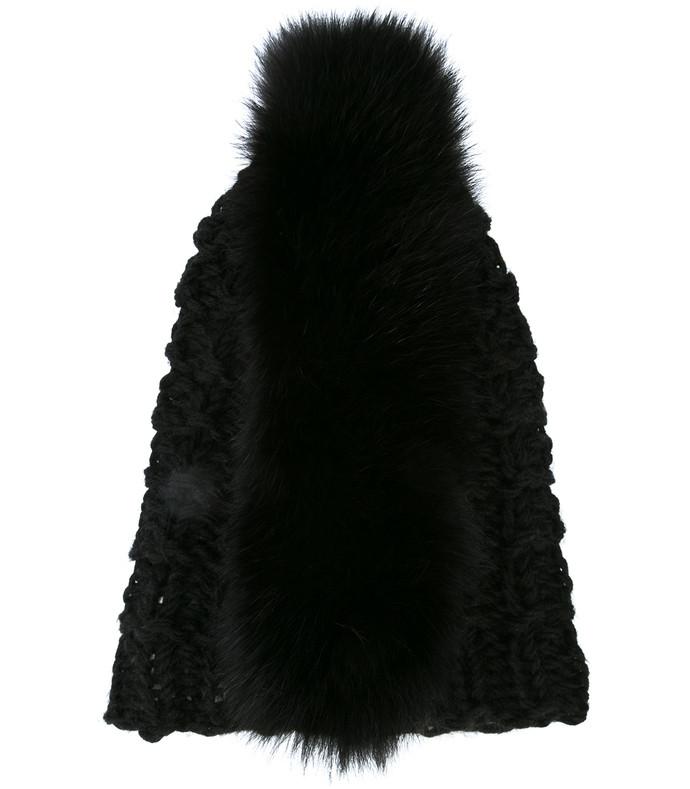 black mohawk beanie