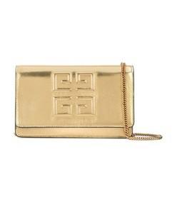 gold metallic chain bag