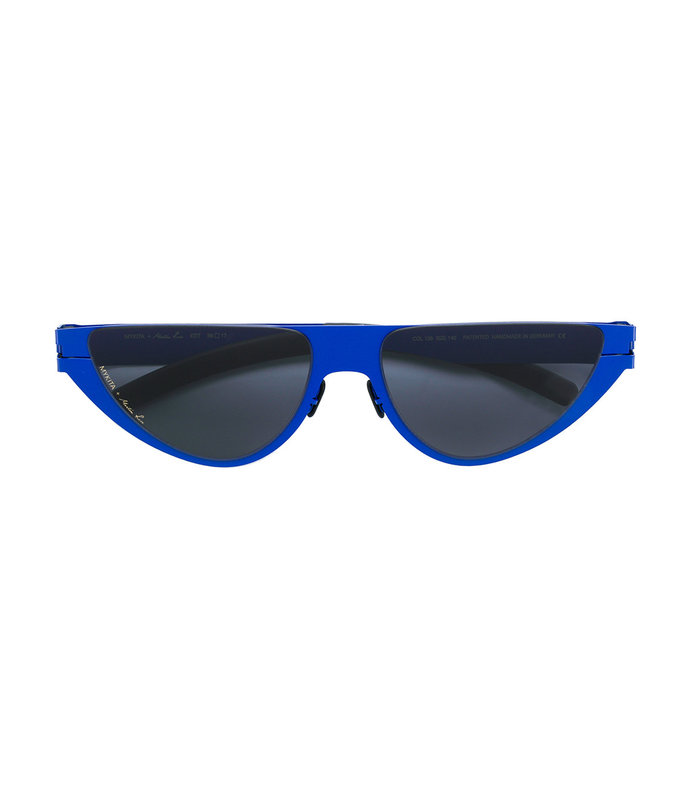 mykita x martine rose kitt blue cat eye sunglasses