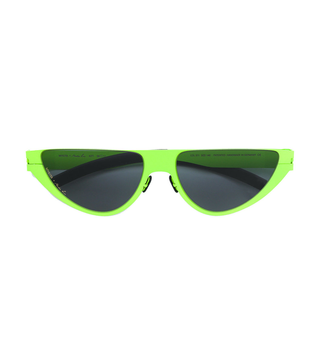 Mykita Mykita + Martine Rose Kitt Green Cat Eye Sunglasses