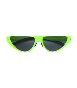 mykita + martine rose kitt green cat eye sunglasses