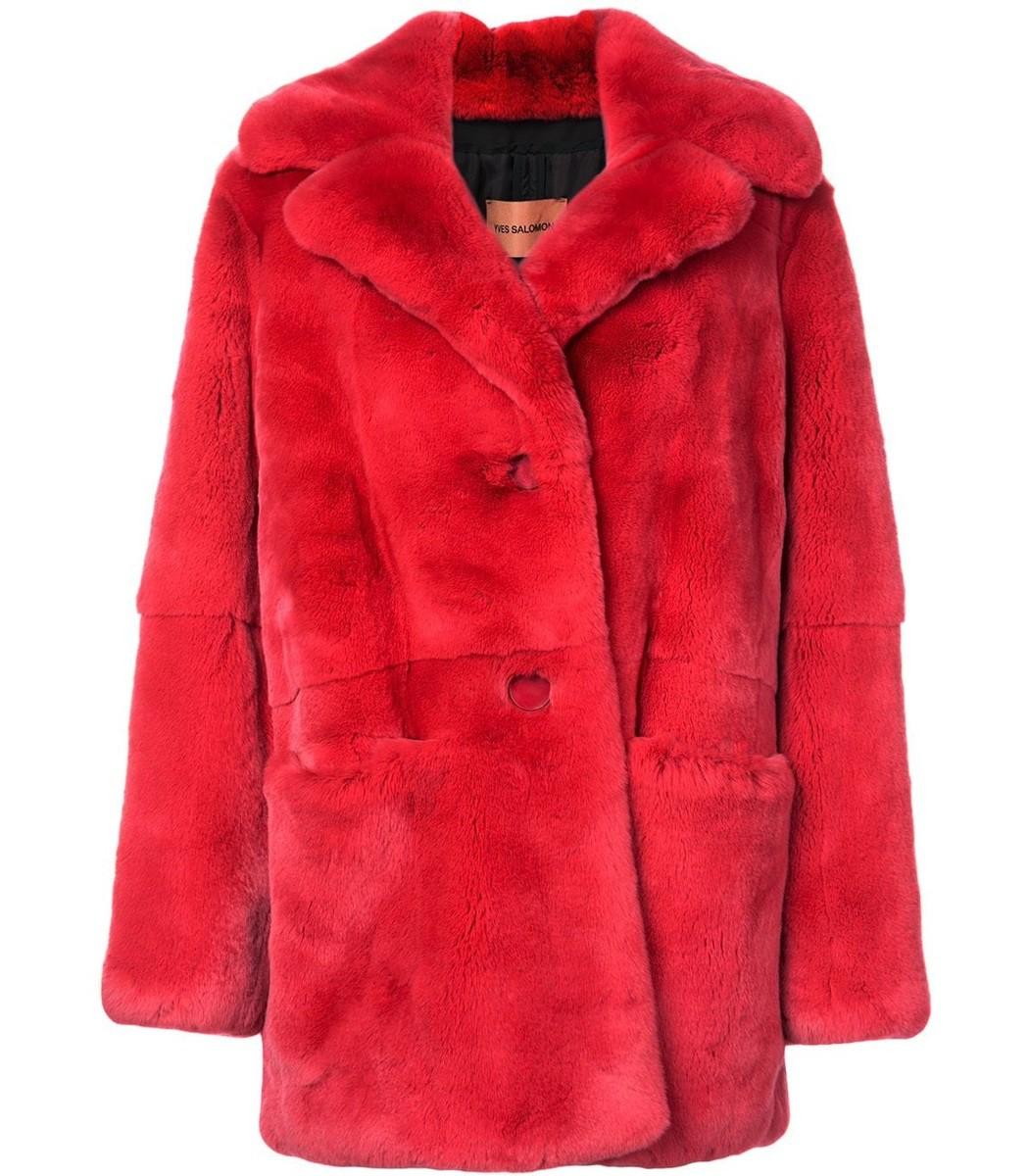 Yves Salomon Mid-Length Rex Coat