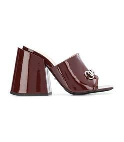 high-heeled slides