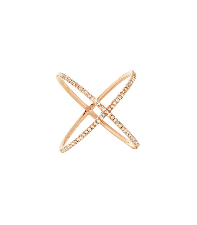 18kt rose gold the x ring