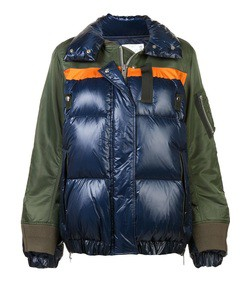 multicolor puffer jacket