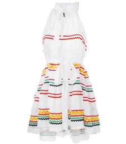 white 'ric rac' mini dress