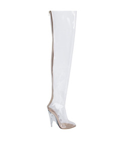 white tubular boot pvc