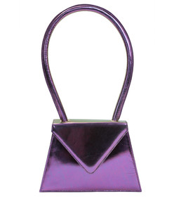 flat metallic purple bag