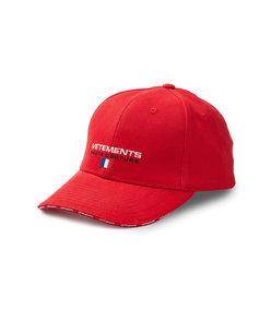 red haute couture logo cap