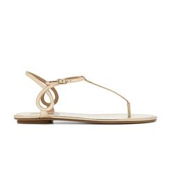 gold almost bare sandal