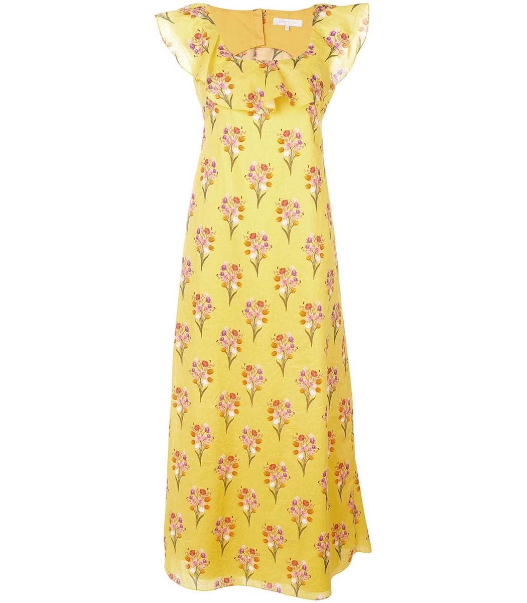 Borgo De Nor Sleeveless Floral Maxi Dress